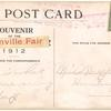 1912 Boonville, Indiana fair grounds aviation exhibition post card