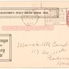 1912 Puyallup - Tacoma, Washington Crawford's Puget Sound aerial mail post card