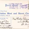 1913 McLeansboro, Illinois Aviation Meet and Street Circus post card