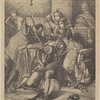 The murder of Rizzio, counsellor to Mary Queen of Scots. From an old engraving. Courtesy of the Old print shop.
