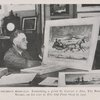President Roosevelt. Examining a print by Currier & Ives, The road--winter, on his visit to the The Old Print Shop in 1932