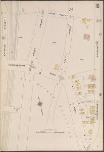 Bronx, V. 13, Plate No. 16 [Map bounded by Reed Pl., Kingsbridge Terrace, Kingsbridge Rd., Exterior St.]