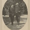 Leaving President McKinley's deathbed--colonel Roosevelt and Senator Hanna walking away from the Milburn House in Buffalo.