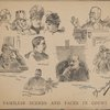 Familiar scenes and faces in court. Some types of litigants ; Judge Donohue ; Judge Lawrence's eyeglass and fan ; Judge Andrews ; Surrogate Rollins pensive ; Some jurymen ; Stenographer Boynge.