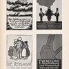 Die Reklame wird zur Kunst und Wissenschaft ... [Four versions].