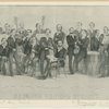 Group portrait of the Germania Musical Society [C. Bergmann, Leader seated in front holding piece of music].