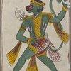 Green monkey-faced figure, Hanuman?]