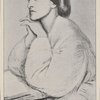 Christina Rossetti. From a drawing by Dante Gabriel Rossetti.