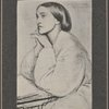 [Christina Rossetti. From a drawing by Dante Gabriel Rossetti.]