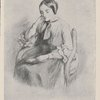 Christina Rossetti. (From a pencil drawing by Dante Gabriel Rossetti.)