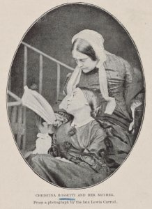 Christina Rossetti and her mother. From a photograph by the late Lewis Carroll.