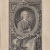 [Portrait Jean-Jacques Rousseau, and book inscribed:] Vitam impendere vero