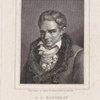 J.J. Rousseau à l'age de 40 ans, né en 1712 mort en 1778