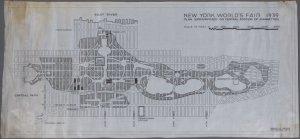 Fairground Superimposed on Map of Manhattan