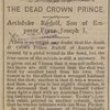 The dead crown prince.