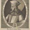 [Caption encircling portrait:] Rudloph III. Alberti I. Caesaris fil. Mitis. Primvs Archidvx. [Inscribed below portrait:] Aliena vocis ae MVLA.