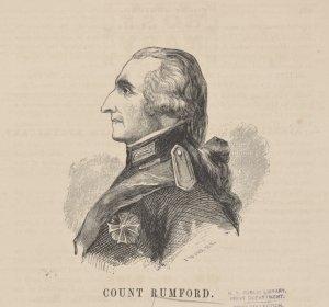 Count Rumford. [Signed] J.W.Orr N.Y.