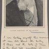 Latest portrait of Mr. Ruskin ; Facsimile of Mr. Ruskin's handwriting.