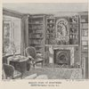 Ruskin's study at Brantwood. Drawn by Arthur Severn, R.I.