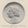 Medallion on the Ruskin Memorial, Derwentwater, By A.C. Lucchesi.
