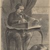 "[William Howard Russell seated at a desk.] . . .The London ""times.""--(From a drawing by Theodore R. Davis, Esq.)"
