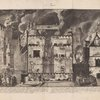 [Demonstration of the New firefighting equipment within a burning townhouse.]