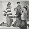 Studio portrait of Sidney Poitier, Ruby Dee, Claudia McNeil, Diana Sands, and Lonne Elder III in the stage production A Raisin in the Sun