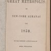 The Great metropolis, or New-York almanac for 1850.