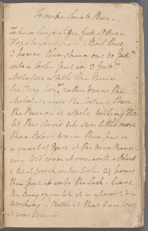 "The NYPL's digital holdings include the papers of notable Americans: letters from Walt Whitman, journals by Nathaniel Hawthorne, receipts from Alexander Hamilton --€"" and George Washington's recipe for ""small beer."" (http://exhibitions.nypl.org/treasures/items/show/130"