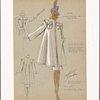 Three piece ensemble with epaulet pocket design on coat.]