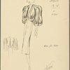 Bolero-style fur jacket with teardrop-shaped front and 3/4 length sleeve]