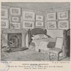 Ruskin's Bedroom, Brantwood (Showing the Turner Drawings and the William Hunt above the fireplace)