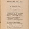 American rhymes.