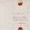 A.L.S., 1754 Dec. 3, Voltaire, at Lyons to his Notary, 2 p. + cover + blank page