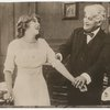 Mary Pickford and David Belasco in a scene from the motion picture A Good Little Devil.