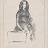 Portrait de Georges Sand. [Inscribed in image]: Emile Lassalle d'après tableau de Charpentier