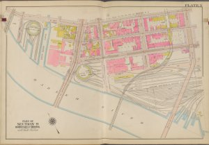 Bronx, V. 1, Double Page Plate No. 3 [Map bounded by E. 135th St., Willis Ave., Harlem River, Park Ave.]