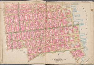 Manhattan, Double Page Plate No. 7 [Map bounded by E. 3rd St., East River, Grand St., Essex St.]