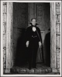 Jeremy Brett in the touring production of the 1977-80 revival of Dracula, sets by Edward Gorey
