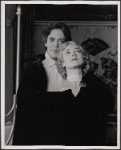 Raul Julia and Valerie Mahaffey in the 1977-80 Broadway revival of Dracula, sets by Edward Gorey