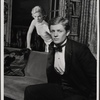 Valerie Mahaffey and Alan Coates in the 1977-80 Broadway revival of Dracula, sets by Edward Gorey