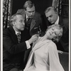 Peter Walker, Alan Coates, Valerie Mahaffey and Dillon Evans in the 1977-80 Broadway revival of Dracula, sets by Edward Gorey