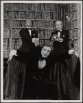 Alan Coates, Jean LeClerc, and Peter Walker in the 1977-80 Broadway revival of Dracula, sets by Edward Gorey