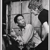[Morgan Freeman and unidentified actress in Exhibition (Actors Playhouse), 1969 Apr.-May]