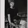[Unidentified actress and Morgan Freeman in Exhibition (Actors Playhouse), 1969 Apr.-May]