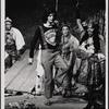 [Lamar Alford, Stephen Nathan, Peggy Gordon, and Sonia Manzano in Godspell, 1971 June]