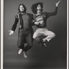 [Publicity photo of David Haskell and Stephen Nathan in Godspell, 1971 June]