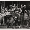 [David Haskell (2nd from right), Stephen Nathan (far right), and ensemble in Godspell, 1971 June]