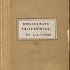 Bibliografa californica, title page