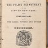 Rules and regulations for the government of the Police Department of the City of New-York ...  (Title page)